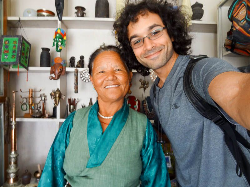 With My Favorite Tibetan Souvenir Seller