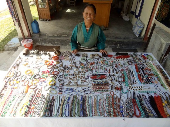 The Souvenir Seller With Her Products