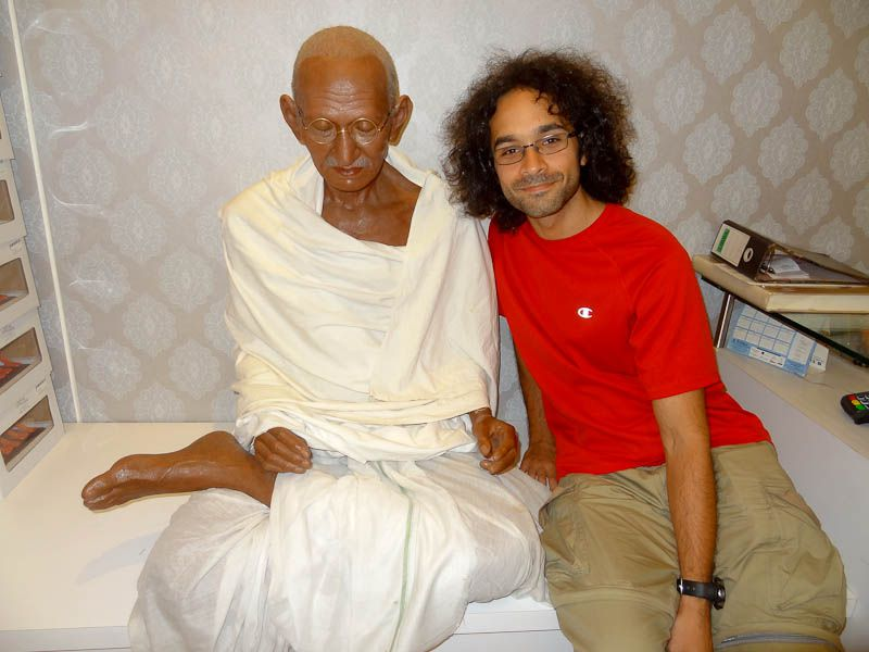 With Gandhi In The Bombay Airport