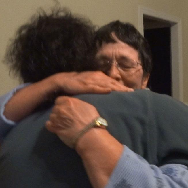 Hugging My Mom