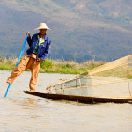 Burmese Fisherman - Taken 30-Jan-2013 - Inle Lake, Myanmar