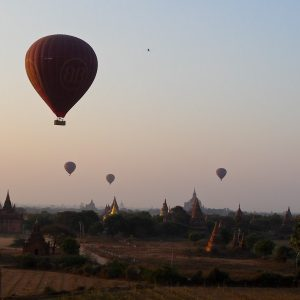 Balloons And Pagodas - Taken 24-Jan-2013 - Bagan, Myanmar