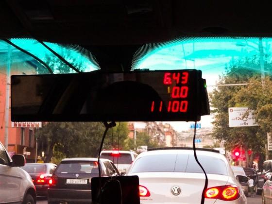 Taxi Meter In The Mirror - Genius!