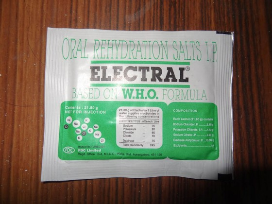 Electrolyte Re-Hydration Packet