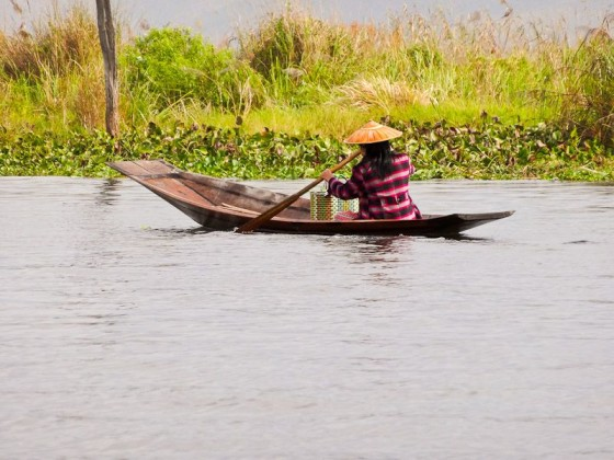 A Lady On Inle Lake