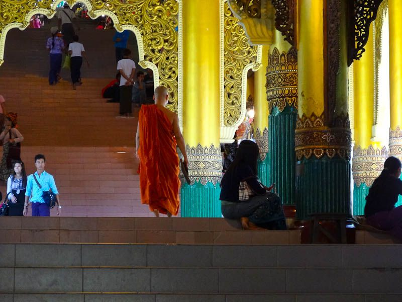 A Monk Entering The Pagoda