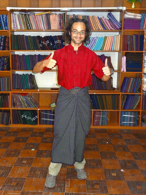 Burmese Shirt And Longyi