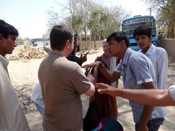 Flies Circling Around Fresh Meat In Jaisalmer, India
