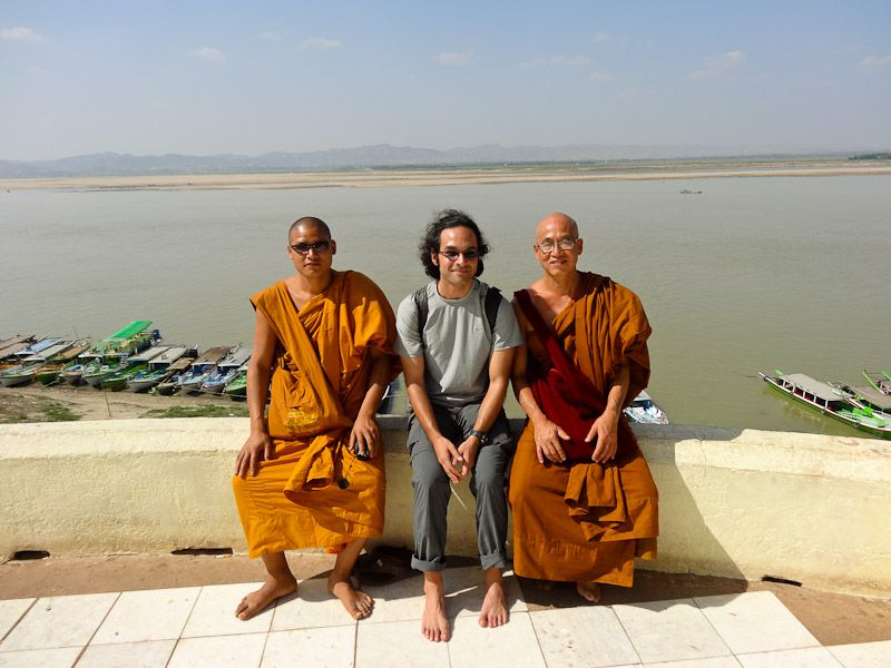 Hanging Out With Some Monks