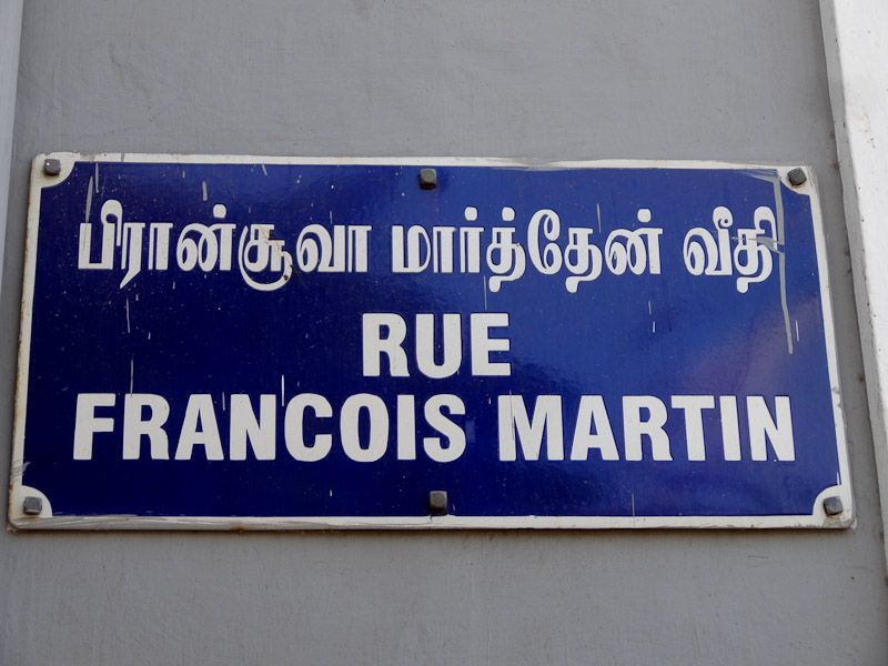 Street Sign In Tamil And French