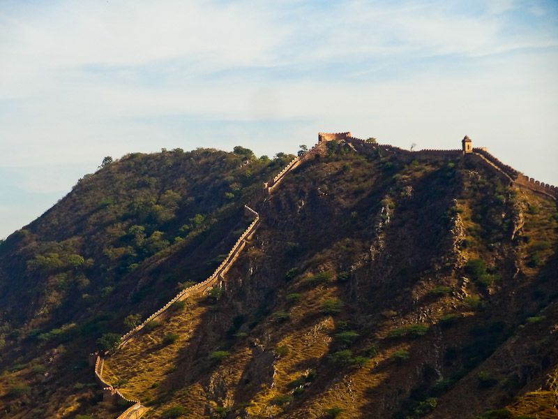 The Wall Surrounding Jaipur