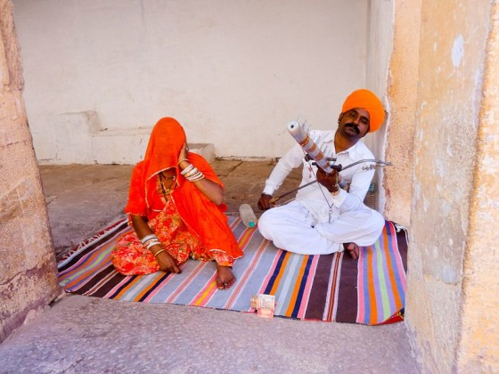 Traditional Music Performers At Mehrangarh Fort