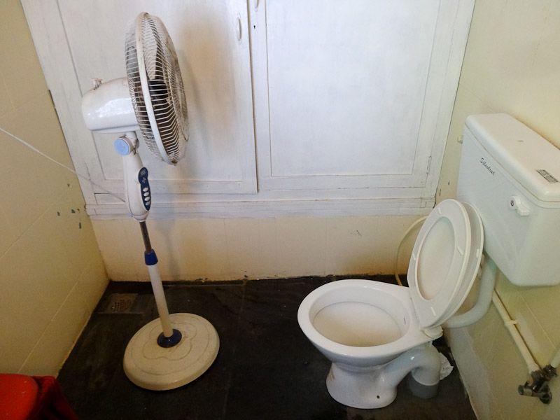 A Restaurant Bathroom. It's Hot..