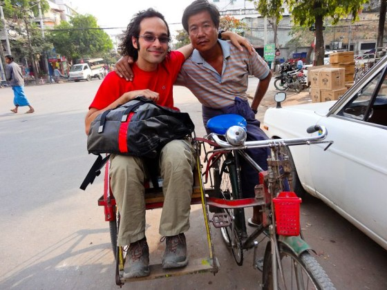 With The Cycle Rickshaw Driver