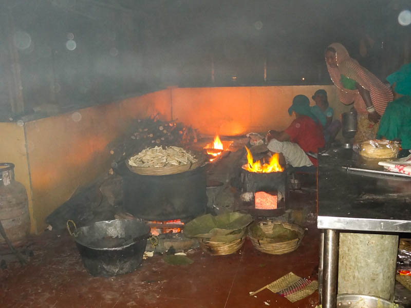 Cooking Over A Wooden Fire