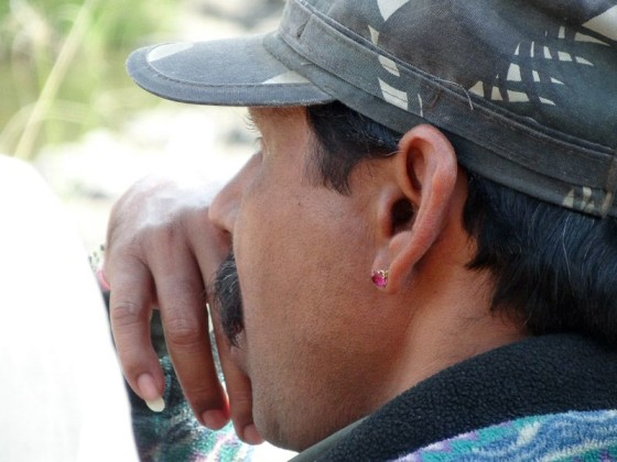 Man With A Long Pinky Nail And Earring In Ranthambore, India