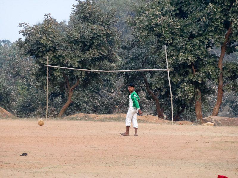 Soccer On A Makeshift Soccer Field