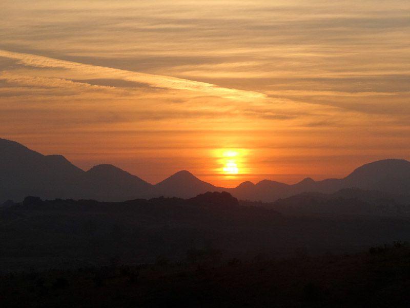 Sunset At The Ashram