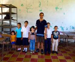 With A Class Of Students In Yoloaiquin, El Salvador