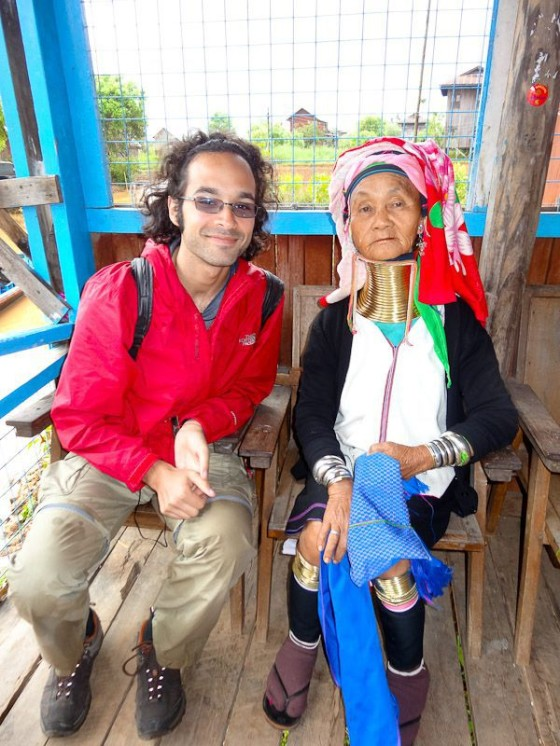 With A Kayan Woman In Myanmar