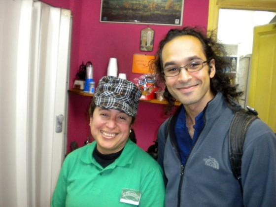 With The Beautiful La Maragata Employee