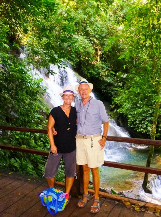 Anita & Oliver At A Waterfall In Palenque, Mexico