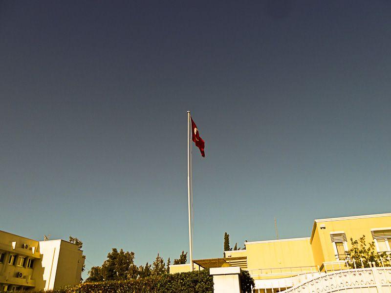 Flag At The Turkish Embassy