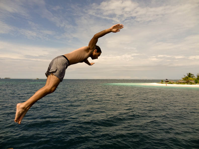 Taking The Plunge - Taken 13-Dec-2011 - The Caribbean Sea