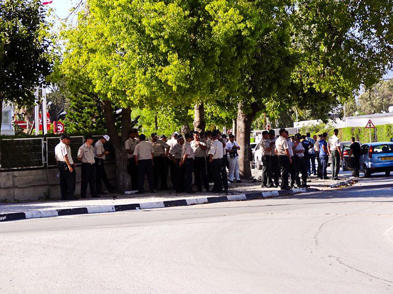 Police Near The Embassy
