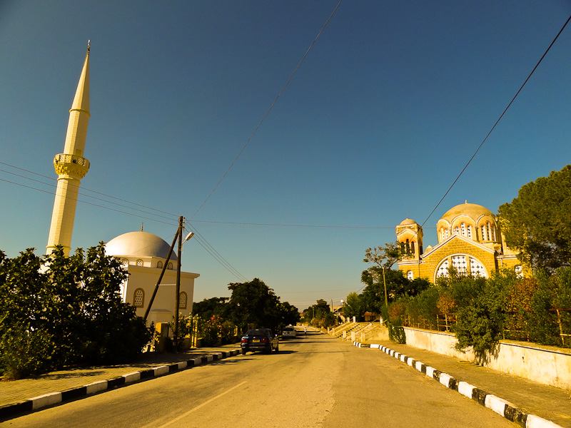 A Mosque And A Church In Karpaz