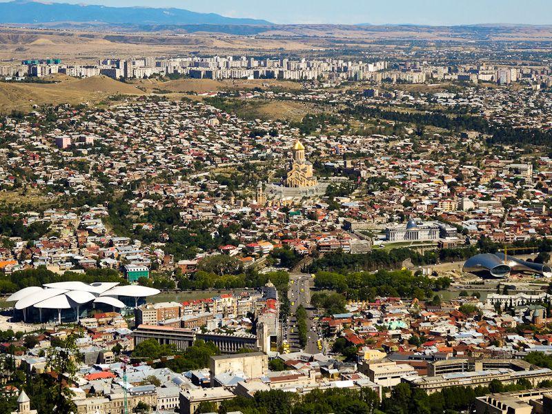 An Aerial View Of Tblisi - Taken 6-Sep-2013 - Tblisi, Georgia
