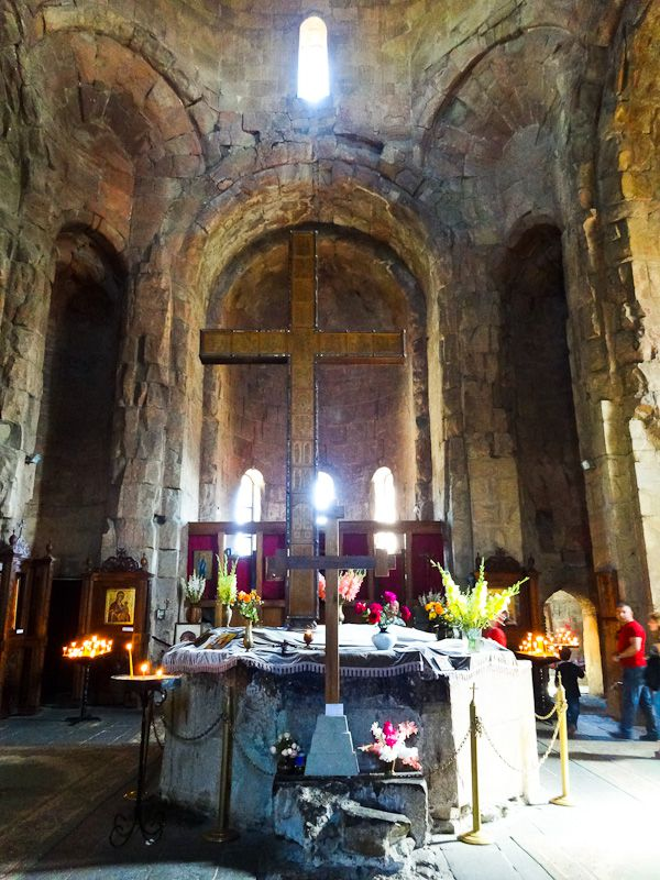 Inside Jvari Monastery