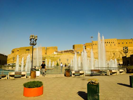 Erbil Citadel And Fountain