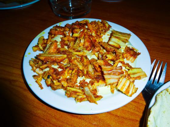 My Favorite Dish - Chicken Shawarma On Top Of Hummus