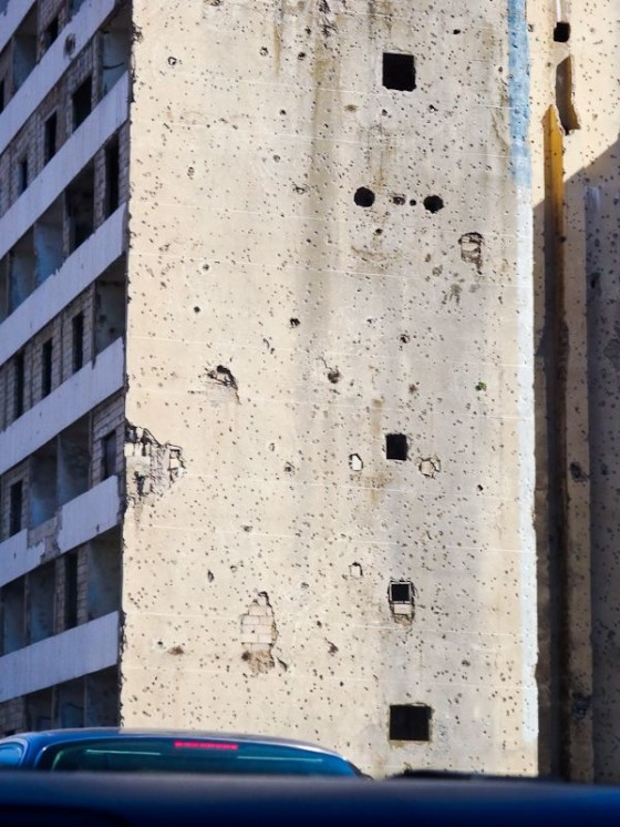 Building With Bullet Holes From The Civil War