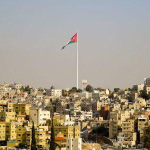 The Jordanian Flag With Amman