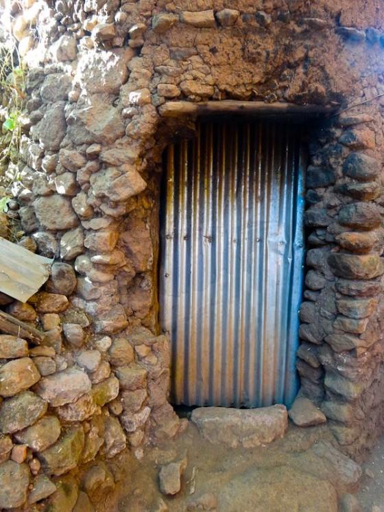 Front Door To A Monk's Home