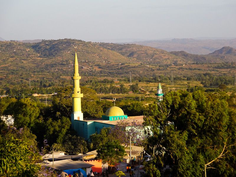 Mosque And Landscape