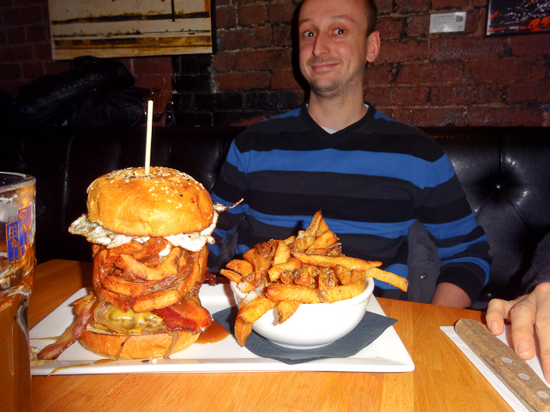 An Obscenely Large Burger
