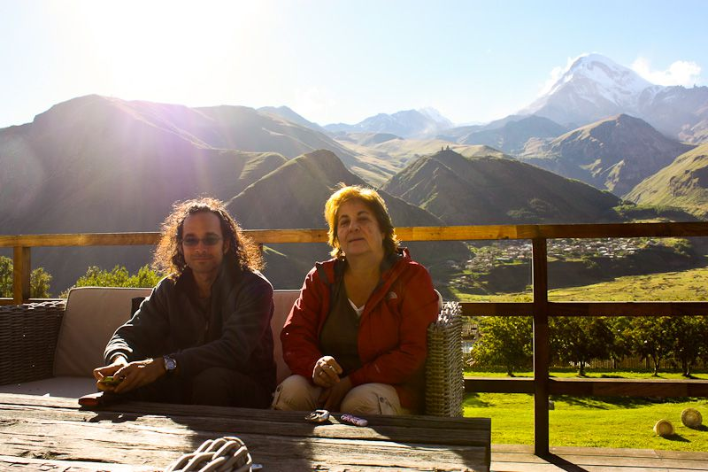 With My Friend's Mom And Mt Kazbegi