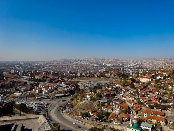 View Of Ankara From Ankara Castle