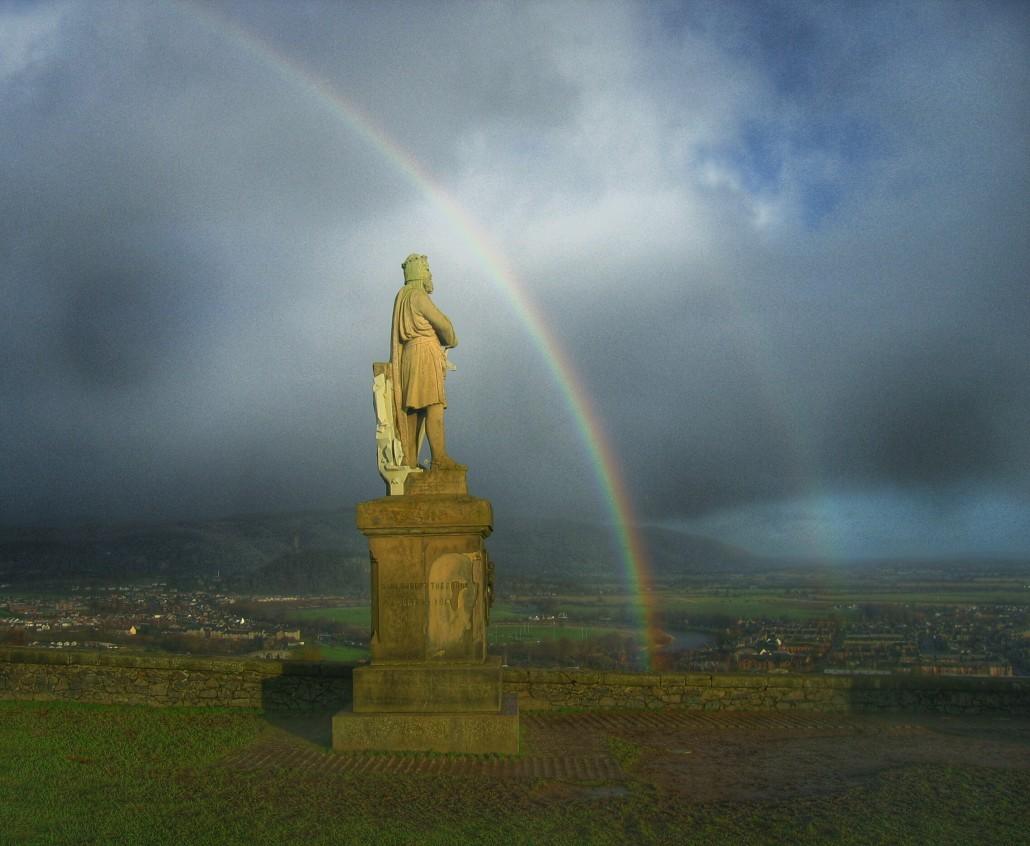 Rainbow Over King Robert The Bruce - Taken 4-Jan-2005 - Stirling, Scotland