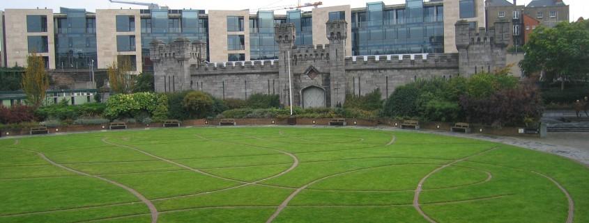 Green, Old, And New At Dublin Castle - Taken 5-Nov-2006 - Dublin, Ireland