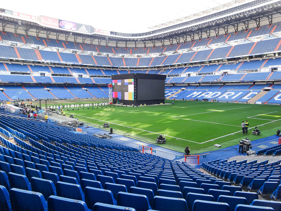 Inside Santiago Bernabeu Stadium