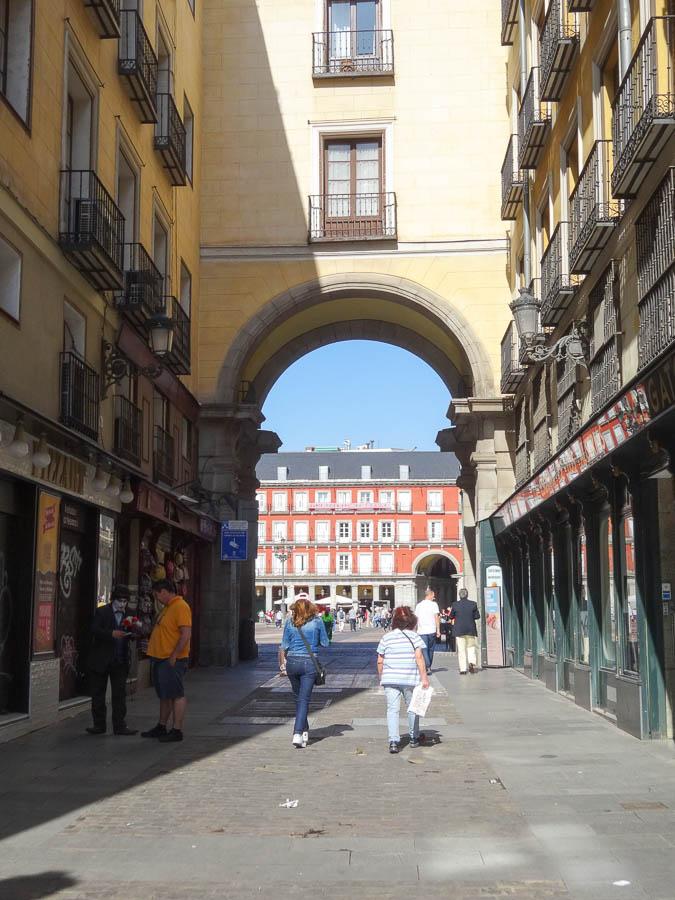 Entrance to Plaza Mayor