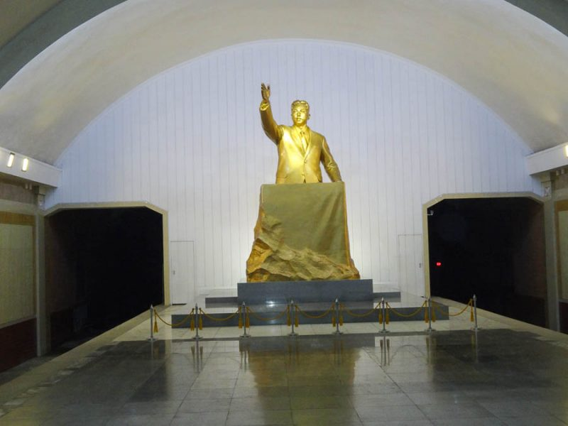 Statue Of Kim Il Sung In The Pyongyang Metro