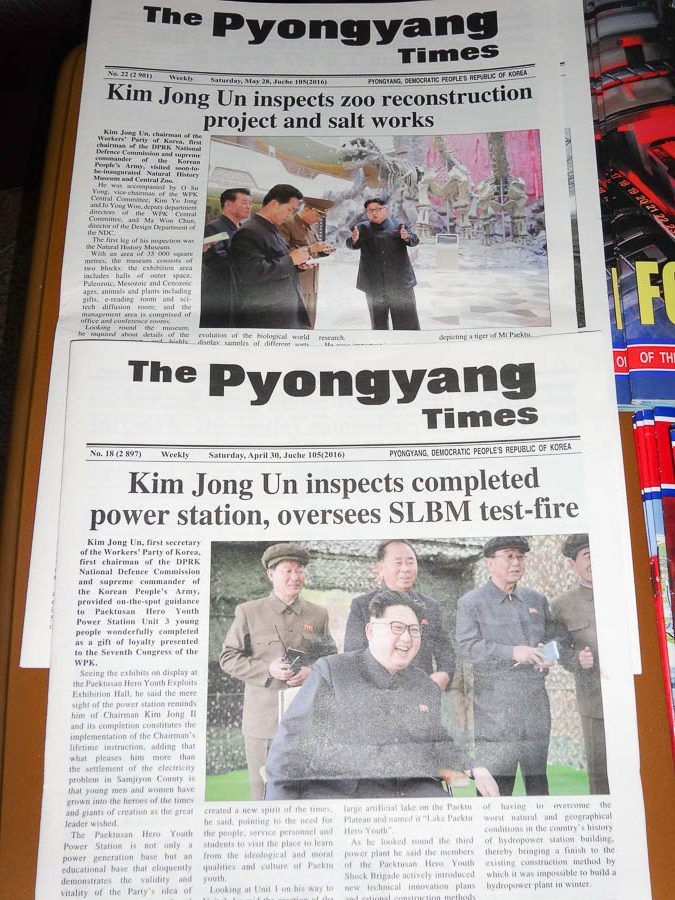 north korean propaganda and monuments happiness plunge