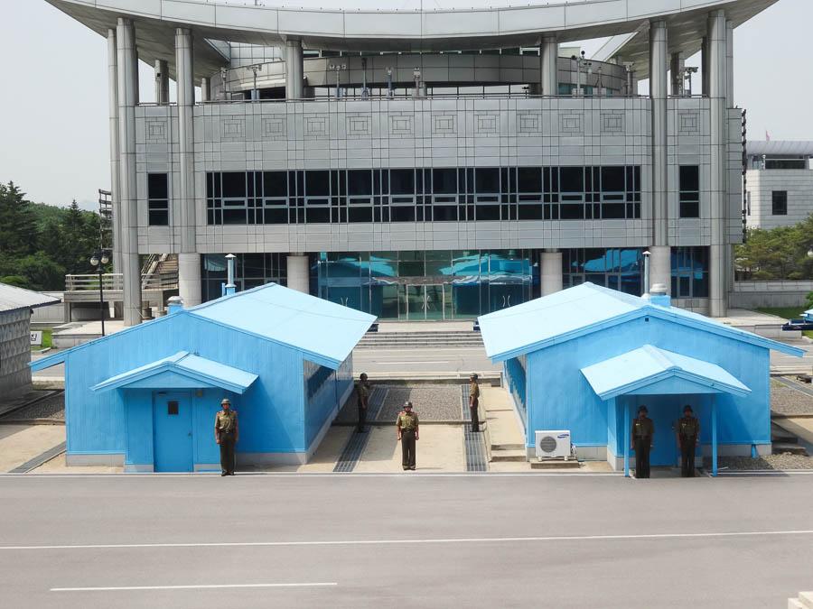 DMZ - Blue Buildings Are UN Buildings For Negotiations