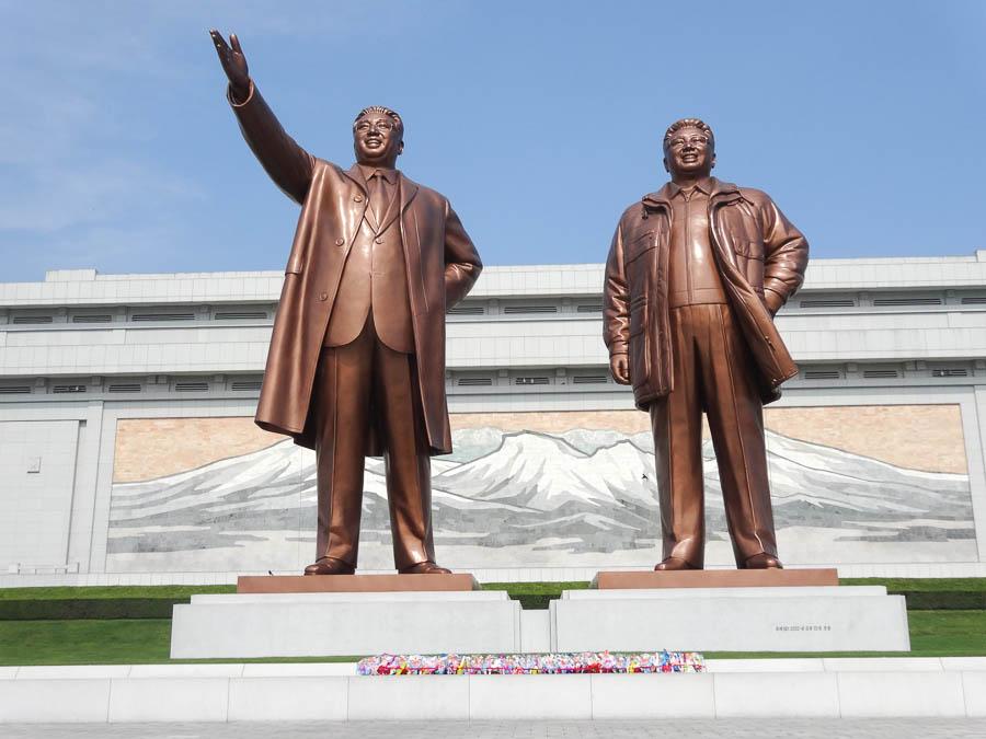 Kim Il Sung And Kim Jong Il Statues