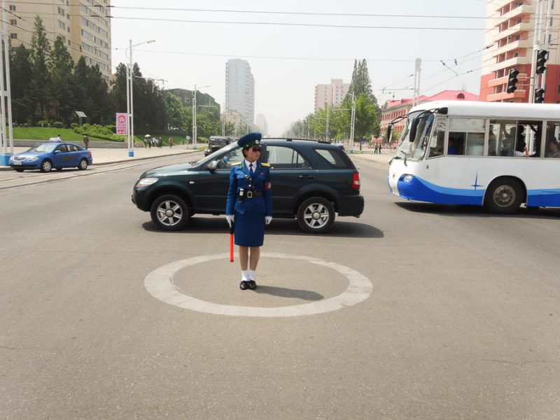 Pyongyang Traffic Lady